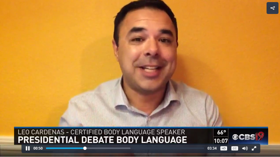 Leo Cardenas Body Language expert analyzes second presidential debate